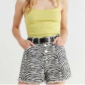 Urban Outfitters BDG Zebra Print High Rise Shorts
